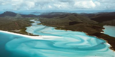 whitsunday island by air